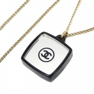 Chanel Collier blanc métal