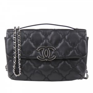 Chanel CC Quilted Lambskin Flap Bag