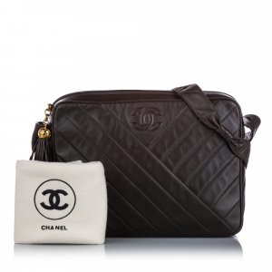 Chanel CC Quilted Lambskin Leather Crossbody Bag