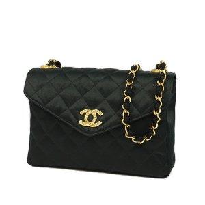 Chanel CC Quilted Satin Shoulder Bag