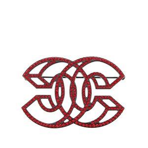 Chanel CC Rhinestone Brooch