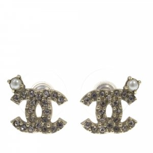 Chanel CC Rhinestone Earrings