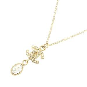 Chanel Collier doré métal