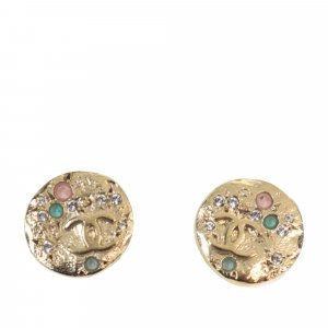 Chanel CC Round Multicolor Earrings