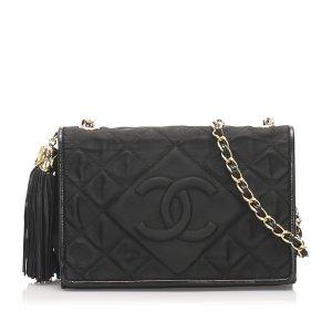 Chanel CC Satin Chain Crossbody Bag