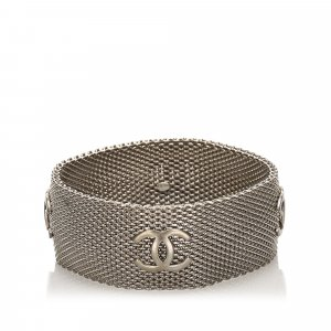 Chanel CC Silver-Tone Bangle