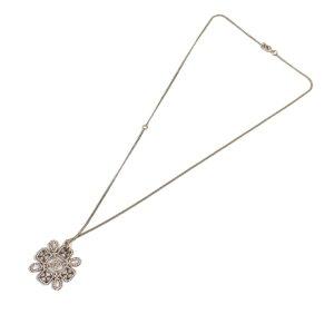 Chanel CC Snowflake Necklace