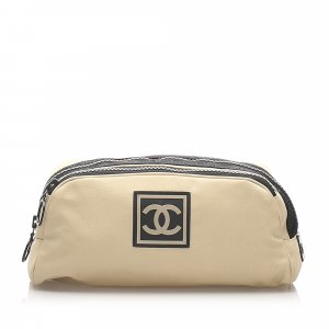 Chanel CC Sports Line Nylon Pouch