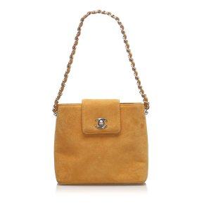 Chanel CC Suede Handbag