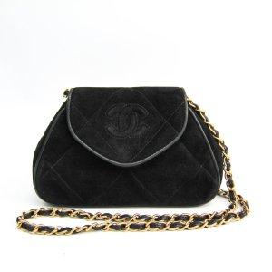Chanel CC Suede Shoulder Bag