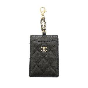 Chanel Tarjetero negro Cuero