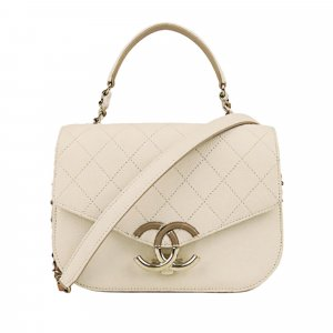Chanel CC Timeless Caviar Leather Satchel