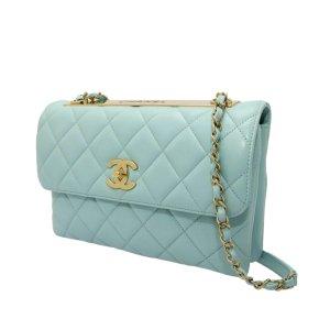 Chanel Torba na ramię jasnoniebieski Skóra