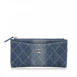 Chanel CC Timeless Denim Wallet