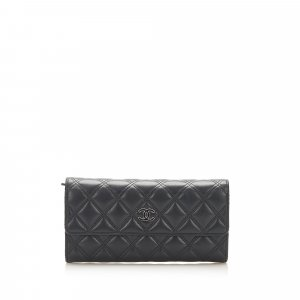 Chanel CC Timeless Lambskin Leather Long Wallet