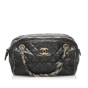Chanel CC Timeless Lambskin Leather Shoulder Bag