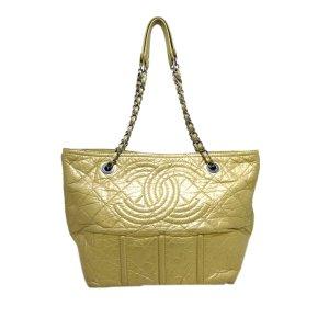 Chanel Schoudertas goud Leer