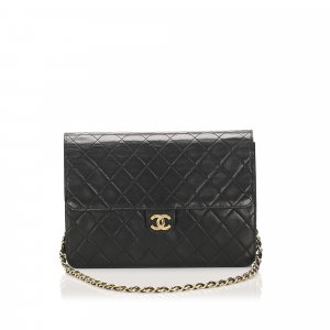 Chanel CC Timeless Lambskin Leather Single Flap Bag