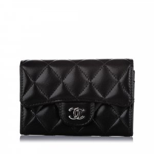 Chanel CC Timeless Lambskin Leather Small Wallet