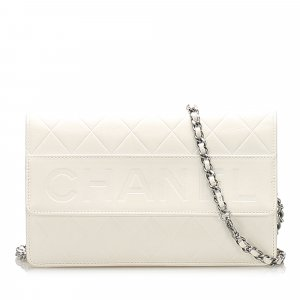 Chanel CC Timeless Lambskin Leather Wallet On Chain
