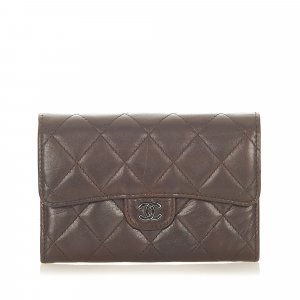 Chanel CC Timeless Leather Small Wallet