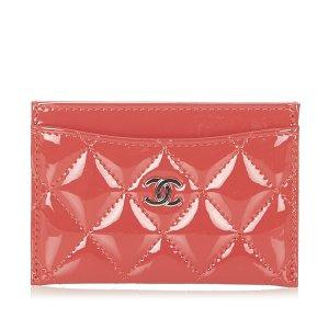 Chanel Tarjetero rojo Imitación de cuero