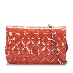 Chanel Wallet orange imitation leather