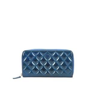 Chanel Portmonetka niebieski Imitacja skóra