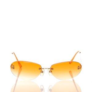 Chanel Lunettes de soleil orange métal