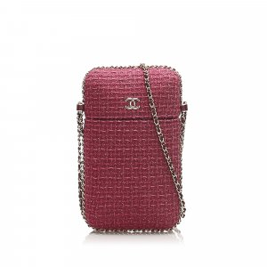 Chanel CC Tweed Phone Case