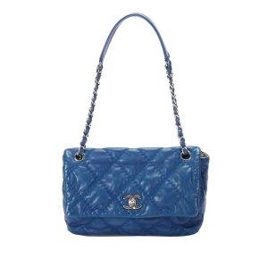 Chanel CC Wild Stitch Flap Leather Shoulder Bag