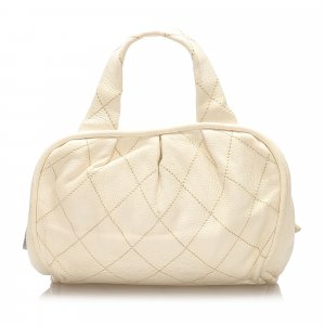 Chanel CC Wild Stitch Leather Handbag