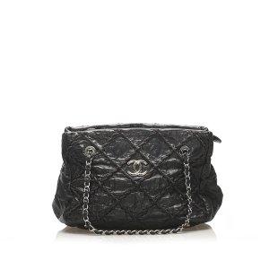 Chanel CC Wild Stitch Leather Tote Bag