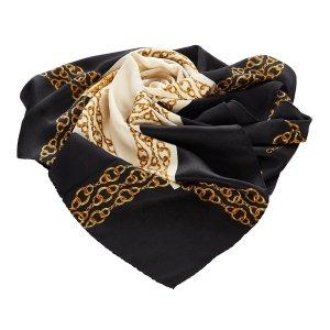 Chanel Chain Print Silk Scarf