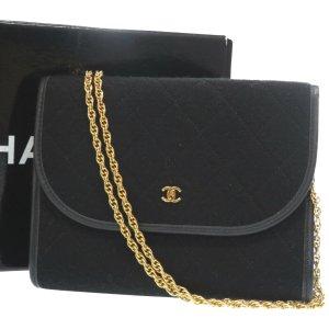 Chanel Bolsa de hombro negro Gamuza