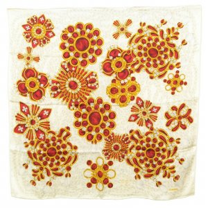 Chanel Knitted Scarf white silk