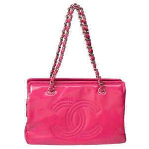 Chanel Schoudertas rosé Leer