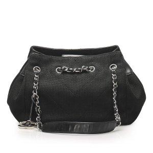 Chanel Chevron Canvas Shoulder Bag