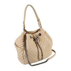 Chanel Gekruiste tas licht beige-beige Leer