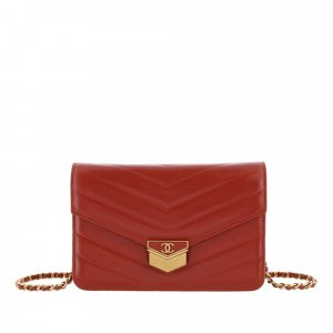 Chanel Wallet red leather
