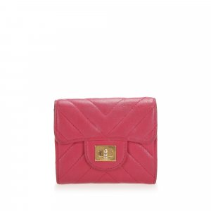 Chanel Chevron Mademoiselle Leather Small Wallet