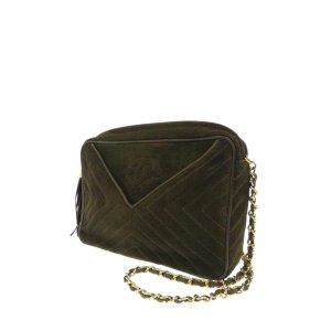 Chanel Shoulder Bag khaki suede