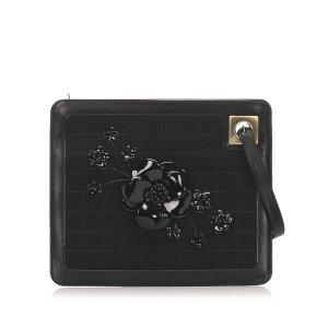 Chanel Pochette noir daim