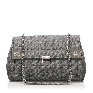 Chanel Choco Bar Denim Flap Bag