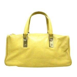 Chanel Handtas geel Leer