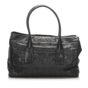 Chanel Choco Bar LAX Leather Tote Bag