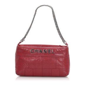 Chanel Choco Bar Leather Lax Pochette