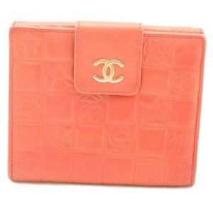 Chanel Choco Bar No.5 Bifold Wallet Red CC