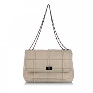 Chanel Choco Bar Patchwork Reissue Wool Single Flap Bag