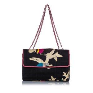 Chanel Choco Bar Reissue Cotton Shoulder Bag